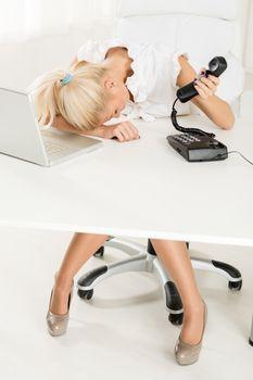 Exhausted Secretary