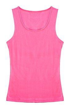 Pink Sleeveless shirt woman.