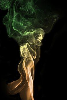 colorful smoke of Joss stick