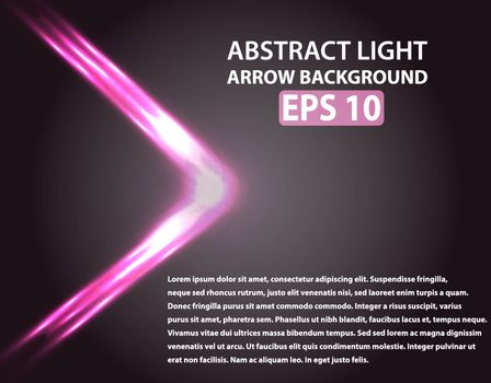 Abstract background with light arrow. Pink elements. Vector illustration, EPS 10
