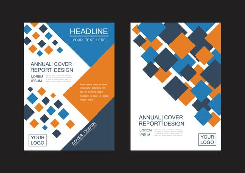 abstract square flyer