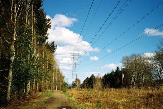 High voltage distribution powerlines