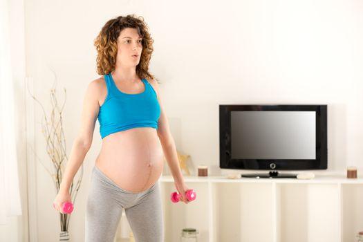 Pregnant Women Doing Breathing Exercises