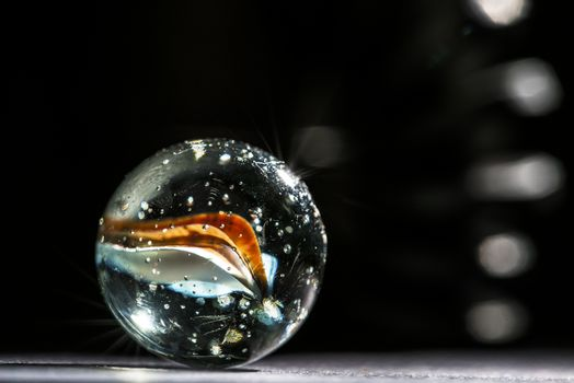 Purity and colors on a glass marble