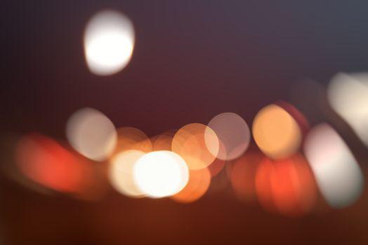 Traffic light bokeh as background