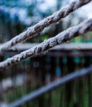 Ropes closeup bokeh
