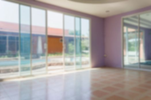 Blurred vacancy space room house or home office