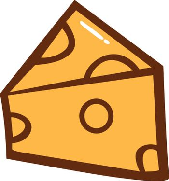 Cheese Slice Clipart Vector