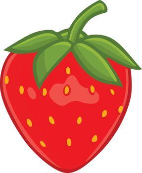 Fresh Strawberry Clipart Vector