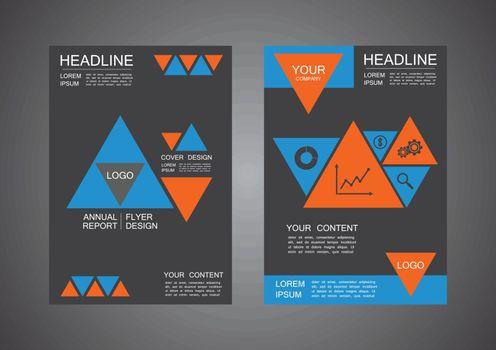 modern triangle cover design