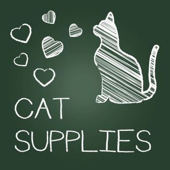 Cat Supplies Meaning Kitty Goods And Shopping