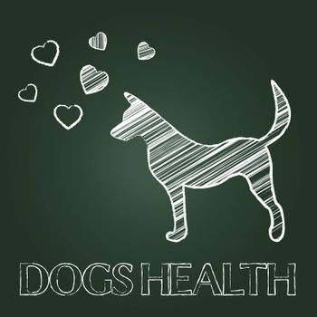 Dogs Health Representing Healthcare Wellness And Fitness