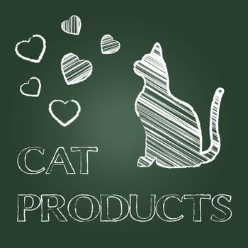 Cat Products Indicating Pet Pedigree And Puss