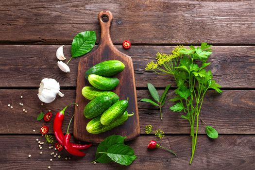 ingredients for pickling cucumbers