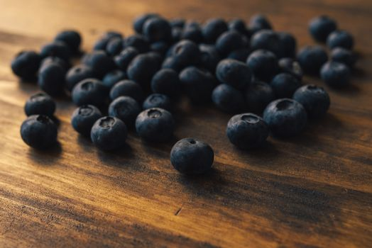 Ripe blueberry pile