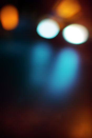 Traffic bokeh light background, beautiful abstract colorful blur backdrop