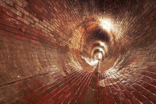 Underground old sewage treatment plant in Prague, Czech republic.