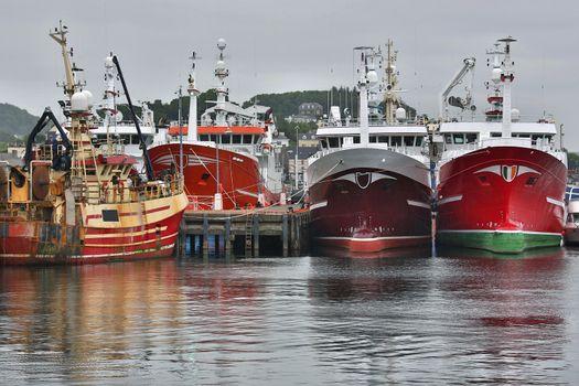 Fishing Trawlers in Killybegs Docks - Ireland