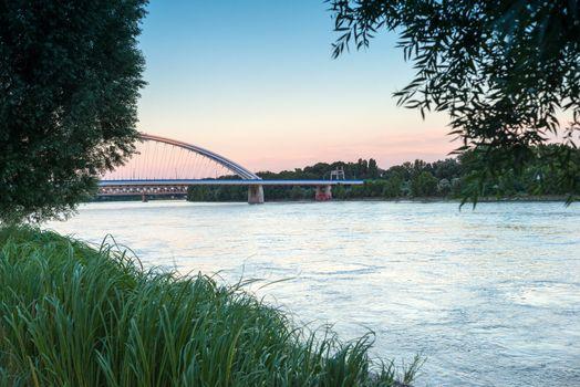 Embankment of the Danube in Bratislava