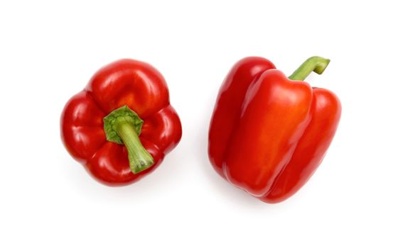 Sweet red pepper isolated on white background cutout