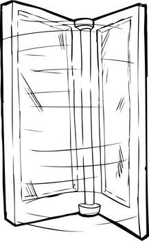 Outlined Spinning Door