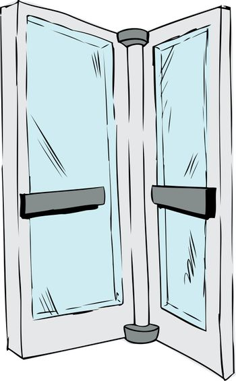 Isolated Revolving Door Pane