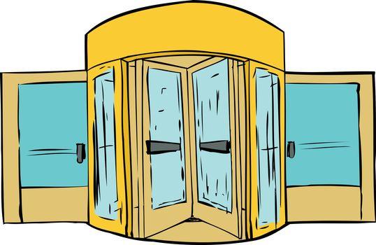 Revolving Door Background