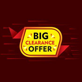 big clearance offer banner design