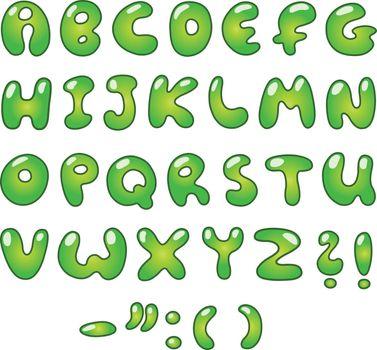 Eco bubble alphabet