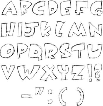 Sketchy letters