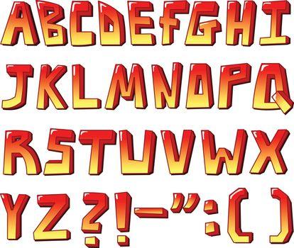 Stylized letters