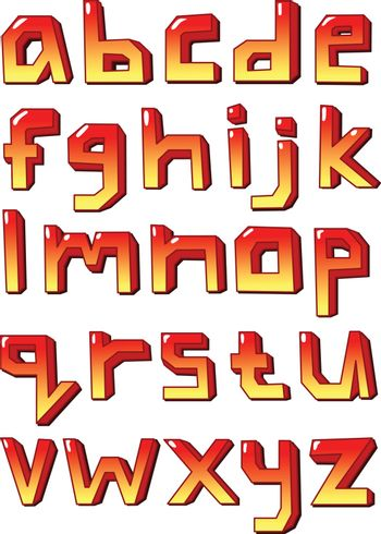 Stylized small letters
