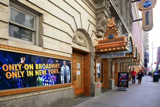 New York, NY, USA - May 17, 2013: Foxwoods Theatre. Center for the Performing Arts, located at 214 West 43rd Street in Manhattan in New York City. Second largest house on Broadway