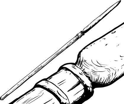 South Saami Spear Illustration