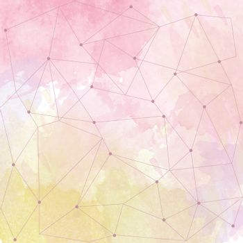 watercolor background with triangle design