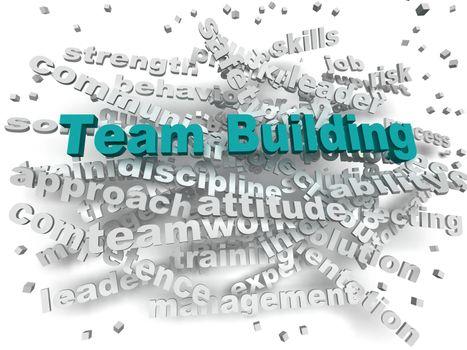 3d image Team Building word cloud concept
