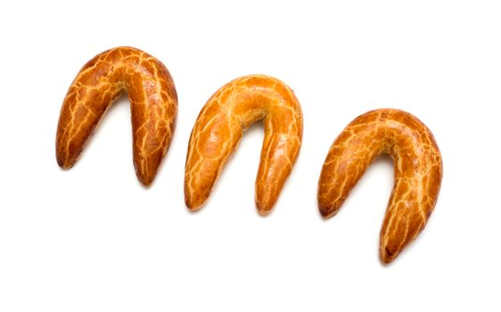 Fresh Bagels Isolated on a White Background