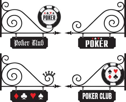 Street signs at the venue of poker events