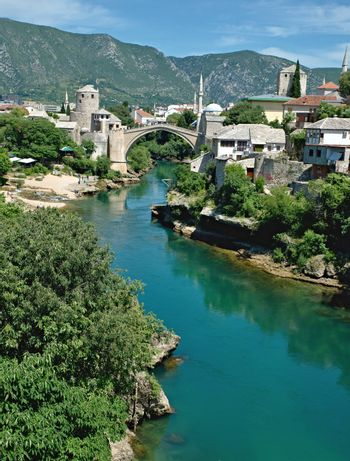 old bridge in Mostar - protected by UNESCO