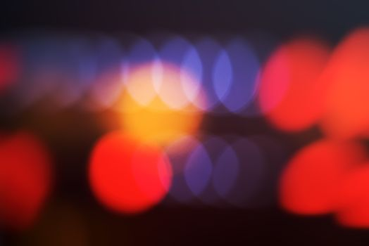 Concert stage bokeh light out of focus, blur abstract background
