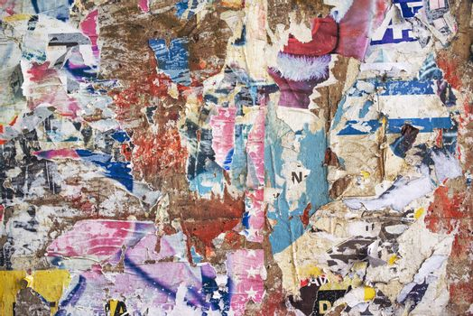 Paper scraps texture