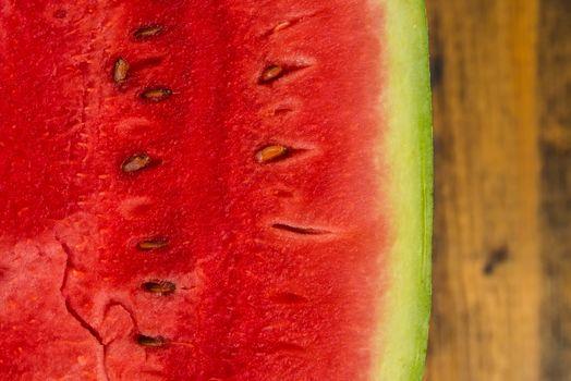 Watermelon flesh detail