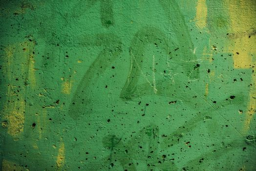 Green painted concrete wall texture