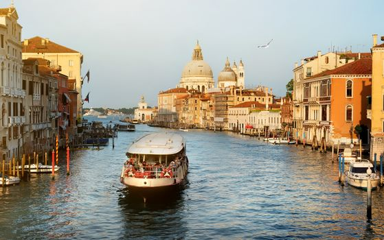 Vaporetto at  Grand Canal