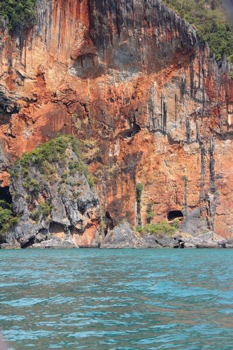 Part of rock in Andaman sea closeup