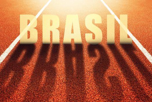 Brasil title on athletic sport running track