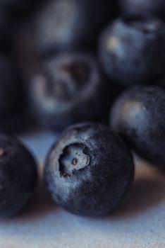 Blueberry pile macro