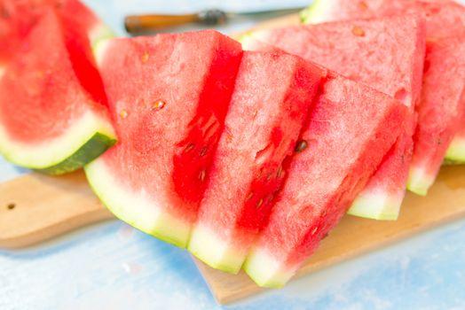 Sweet watermelon slices