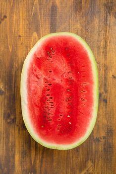 Watermelon cross section slice