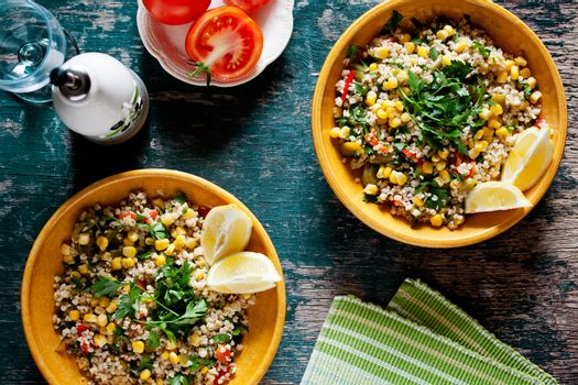 Plates Of Refreshing Summer Bulgur Salad